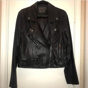 Blank NYC Leather Moto Jacket in Black